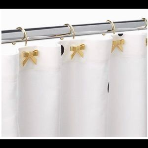 Kate Spade 12 gold shower-curtain bow hooks 🆕